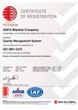 Adfa Blanket Co Ltd ISO 9001:2015