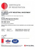 AI Abdullatif Industrial Investment Co ISO 9001:2015
