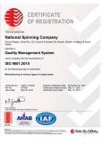 National Spinning Co Ltd ISO 9001:2015