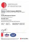 Western Textiles Co Ltd ISO 9001:2015