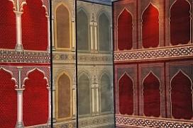 Mosque Carpet Columns